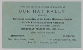 view Invitation to a hat rally at Macedonia Baptist Church digital asset number 1
