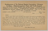 view Form letter for National Baptist Convention in Chicago digital asset number 1