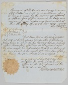 view Bill of sale for a man named Daniel to Jerome B. Annis digital asset number 1