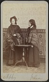 view Carte-de-visite portrait of Abby and Julia Smith digital asset number 1
