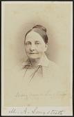 view Carte-de-visite portrait of Mary Anna Longstreth digital asset number 1