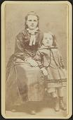 view Carte-de-visite portrait of Agnes and Slocum Howland digital asset number 1