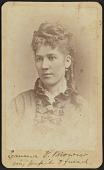 view Carte-de-visite portrait of Emma V. Brown digital asset number 1