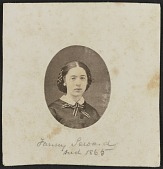 view Albumen portrait of Fanny Seward mounted on paper digital asset number 1