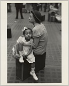 view <I>Mother and Daughter at Penn Station, NY</I> digital asset number 1