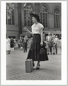view <I>Well Dressed Woman at Penn Station, NY</I> digital asset number 1