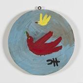 view <I>Untitled (Round Bird on Wood)</I> digital asset number 1