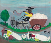 view <I>Untitled (Cotton Picking Scene with Overseer)</I> digital asset number 1