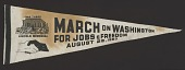 view Pennant from the March on Washington carried by Edith Lee-Payne digital asset number 1