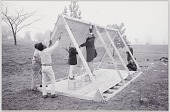 view Photograph of John Wiebenson and others building a structure digital asset number 1