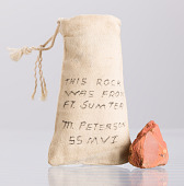 view Bag containing a piece of brick from Fort Sumter owned by Marquis Peterson digital asset number 1