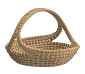 view <I>Table Tray Basket with Handle</I> digital asset number 1