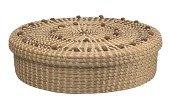 view <I>Lidded Cake Basket with French Knots</I> digital asset number 1