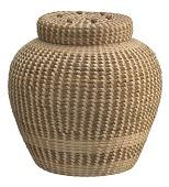 view <I>Lidded Cobra Basket with French Knots</I> digital asset number 1