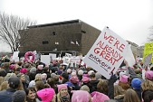 view Digital image of a crowd of marchers at the Women's March digital asset number 1