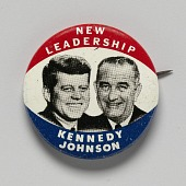 view Pinback button for Kennedy - Johnson 1960 presidential campaign digital asset number 1