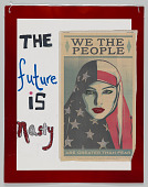 """view Placard with """"The Future is Nasty"""" used during the Women's March digital asset number 1"""