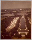 view Chromogenic print of an aerial view of Resurrection City digital asset number 1