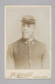 view Cabinet card of a Buffalo soldier from Co. G 25th Regiment digital asset number 1