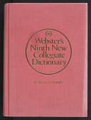 view <I>Webster's Ninth New Collegiate Dictionary</I> digital asset number 1