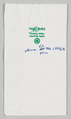 view Napkin with handwritten text owned by Jim Vance digital asset number 1
