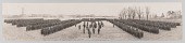 view Framed panoramic photograph of 183d Brigade of the 92d Infantry Division digital asset number 1