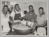view <I>WASECA – BARBADOS ISLAND STORY: IN THE KITCHEN THE COOKS PREPARE MEAT CAKES.</I> digital asset number 1