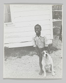 view Portrait of Willie Sartin with a dog digital asset number 1