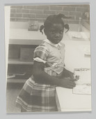 view Portrait of an unidentified child at elementary school digital asset number 1