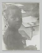 view Portrait of an unidentified student in kindergarten class digital asset number 1