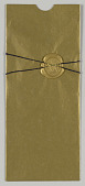 view Wedding Invitation Suite: Invitation gold sleeve digital asset number 1