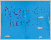 """view Sign with """"Nazis- Go Home!!"""" used in the Unite the Right counter-protest digital asset number 1"""