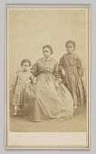 view Carte-de-visite of a young woman and two children digital asset number 1