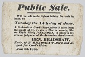 view Broadside announcing the sale of enslaved persons in Mercer County, Kentucky digital asset number 1