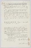 view Bill of sale with two transactions for an enslaved man named Joe or Joseph digital asset number 1