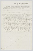 view Bill of sale for an enslaved woman named Rosner in Louisiana digital asset number 1