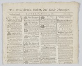 view <I>The Pennsylvania Packet, and Daily Advertiser No. 2747</I> digital asset number 1