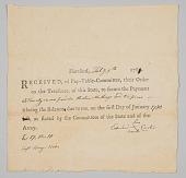 view Receipt of pay for Pvt. Edward Carter digital asset number 1
