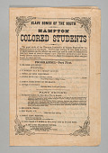 """view Program for """"Slave Songs of the South"""" by the Hampton Colored Students digital asset number 1"""
