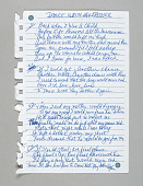 """view Lyrics for """"Dance with My Father"""" handwritten by Luther Vandross digital asset number 1"""
