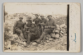 view Photographic postcard of soliders in World War One at Verdun digital asset number 1