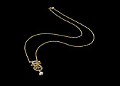 view Necklace worn by Jessie Greer, gifted to her by George J. Jones digital asset number 1