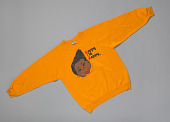 "view Yellow sweatshirt with ""Happy I'm Nappy"" design digital asset number 1"