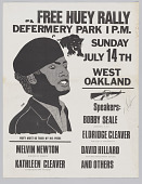 view Poster for a Free Huey Rally at De Fremery Park digital asset number 1