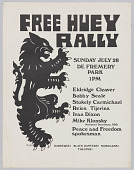 view Poster for a rally in support of Huey Newton digital asset number 1