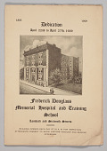view Program from The Frederick Douglass Memorial Hospital and Training School digital asset number 1