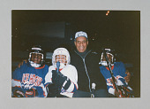 view Color photograph of Willie O'Ree and Ice Hockey in Harlem players digital asset number 1