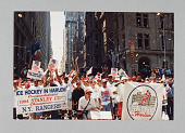 view Color photograph of Ice Hockey in Harlem students in 1994 Stanley Cup parade digital asset number 1