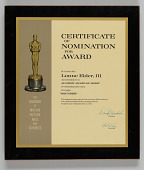 view Certificate of nomination from the Academy Awards issued to Lonne Elder III digital asset number 1