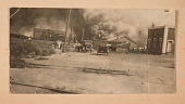 view Photograph of the Greenwood District burning during the Tulsa Race Massacre digital asset number 1